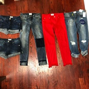 LOT OF 5 Hudson Kids Jeans Shorts Size 10
